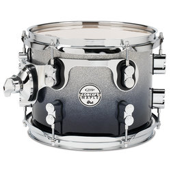 PDP Concept Maple Rack Tom - 8x10, Silver to Black Fade