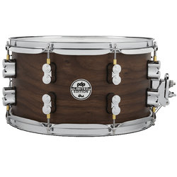 PDP Concept Series Maple Hybrid EXT-PLY Snare Drum - 7 x 13, Maple Walnut Natural Satin