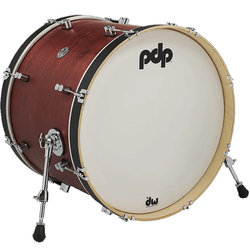 PDP Concert Maple Classic Bass Drum - 16x22, Ox Blood