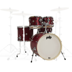 PDP Spectrum 5-Piece Shell Pack - 22/14SD/16FT/12/10, Cherry Stain