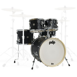 PDP Spectrum 5-Piece Shell Pack - 22/14SD/16FT/12/10, Ebony Stain