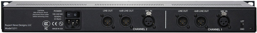 View larger image of Rupert Neve Designs 5211 2-Channel Microphone Preamp
