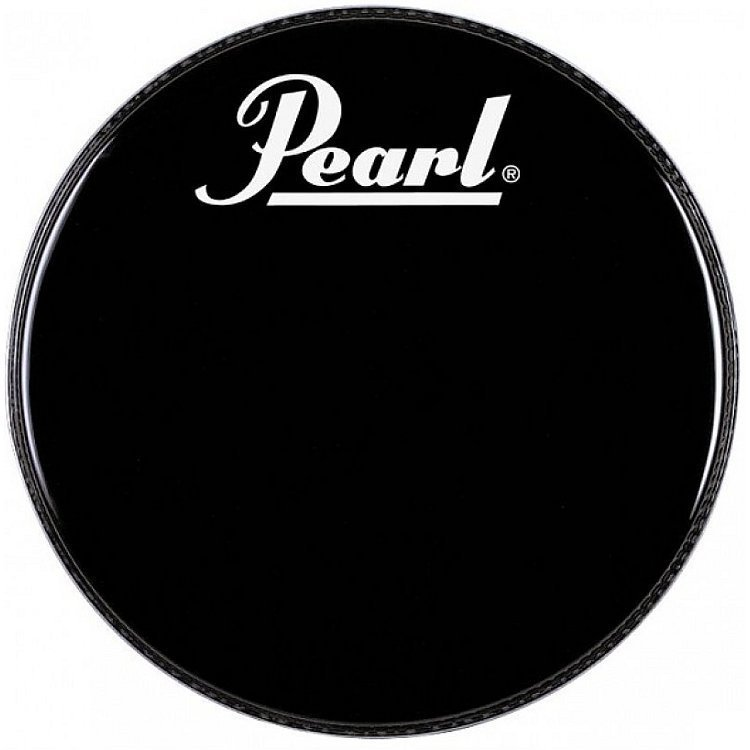 View larger image of Pearl Black Beat Bass Drum Head with Logo - 18