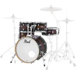 Pearl Decade Maple 5-Piece Shell Pack - 20/14SD/14FT/12/10, Satin Brown Burst