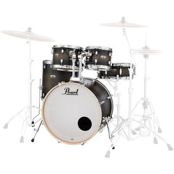 Pearl Decade Maple 5-Piece Shell Pack - 22/14SD/16FT/12/10, Satin Black Burst
