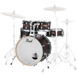 Pearl Decade Maple 5-Piece Shell Pack - 22/14SD/16FT/12/10, Satin Brown Burst