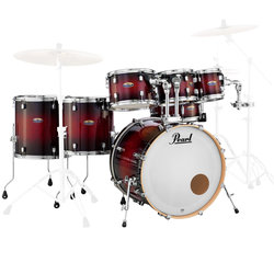 Pearl Decade Maple 7-Piece Shell Pack - 22/14SD/16FT/14FT/12/10/8, Gloss Deep Red Burst