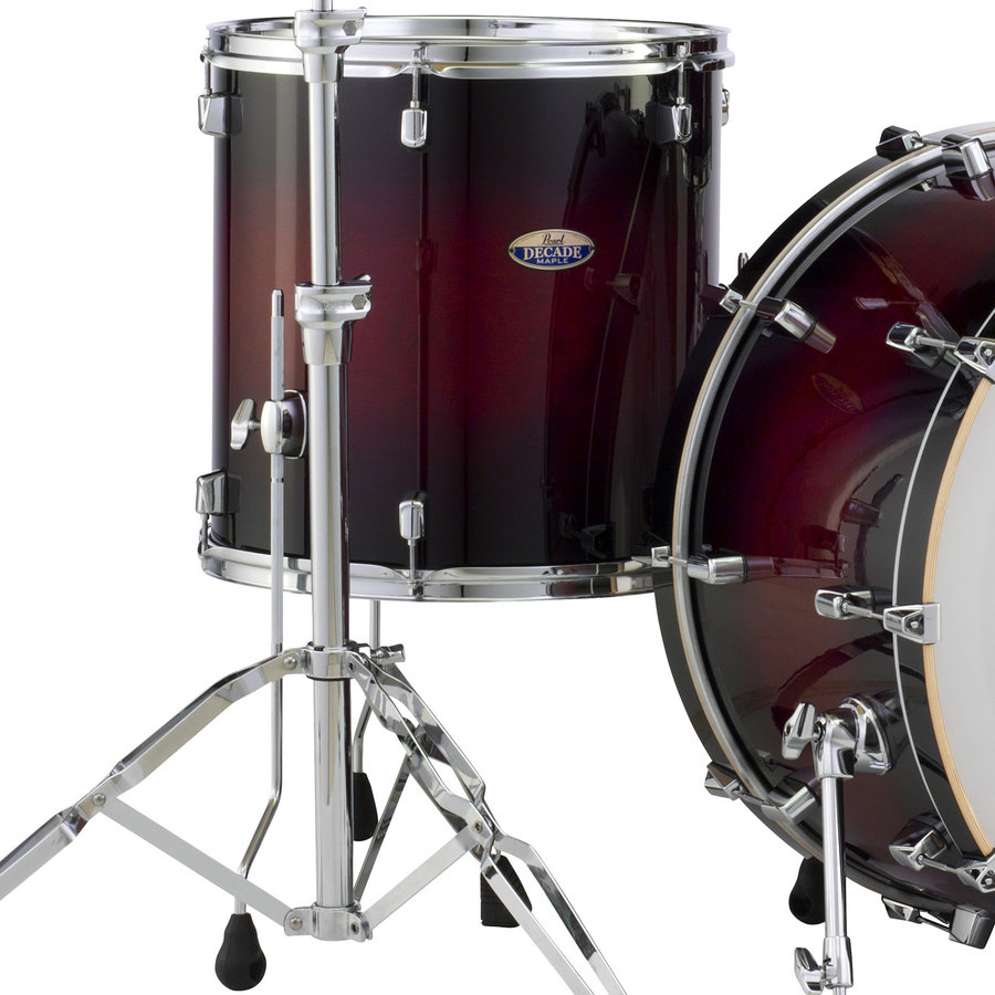 View larger image of Pearl Decade Maple Floor Tom - 14x14, Gloss Deep Red Burst