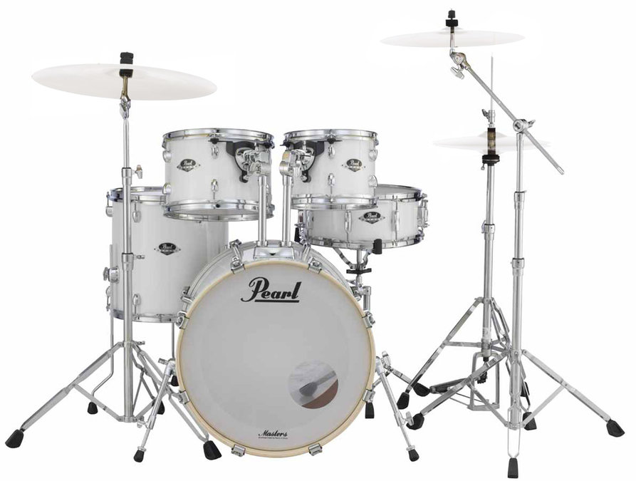 View larger image of Pearl Export 5-Piece Shell Pack - 22/10/12/16/SD, Hardware, Pure White