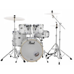 Pearl Export 5-Piece Shell Pack - 22/10/12/16/SD, Hardware, Pure White
