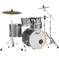 Pearl Export EXX 5-Piece Drum Kit - 20/14SD/14FT/12/10, Hardware, Cymbals, Throne, Grindstone Sparkle