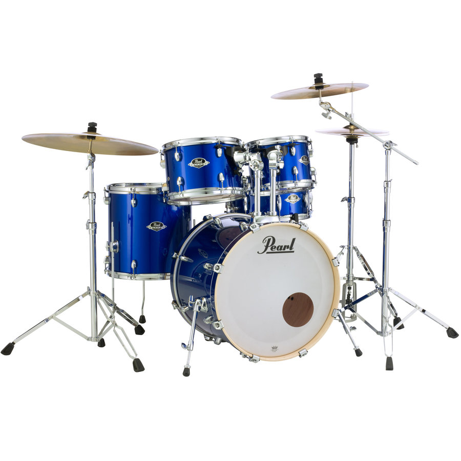 View larger image of Pearl Export EXX 5-Piece Drum Set - 20/14SD/14FT/12/10, Hardware, Cymbals, Throne, High Voltage Blue