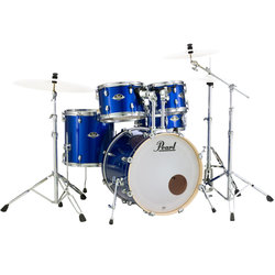 Pearl Export EXX 5-Piece Drum Kit - 20/14SD/14FT/12/10, Hardware, High Voltage Blue