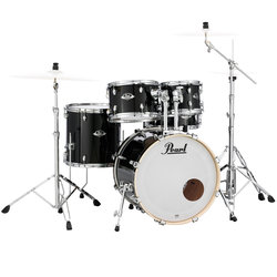 Pearl Export EXX 5-Piece Drum Kit - 20/14SD/14FT/12/10, Hardware, Jet Black