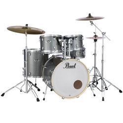 Pearl Export EXX 5-Piece Drum Kit - 22/14SD/14FT/12/10, Hardware, Cymbals, Throne, Grindstone Sparkle
