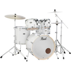Pearl Export EXX 5-Piece Drum Kit - 22/14SD/16FT/12/10, Hardware, Pure White