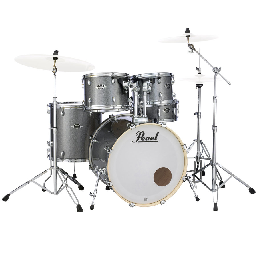 View larger image of Pearl Export EXX 5-Piece Drum Set - 22/14SD/16FT/13/12, Hardware, Grindstone Sparkle