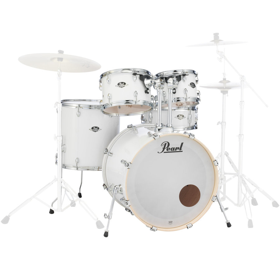 View larger image of Pearl Export EXX 5-Piece Shell Pack - 22/14SD/16FT/13/12, Pure White