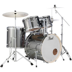 Pearl Export EXX 5-Piece Shell Pack - 22/14SD/16FT/13/12, Smokey Chrome