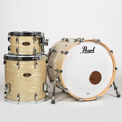 Pearl Masters Maple/Gum 3-Piece Shell Pack - 22/16FT/12, Platinum Gold Oyster