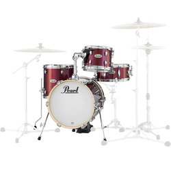 Pearl Midtown Series 4-Piece Shell Pack - 16/13SD/13FT/10, Black Cherry Glitter