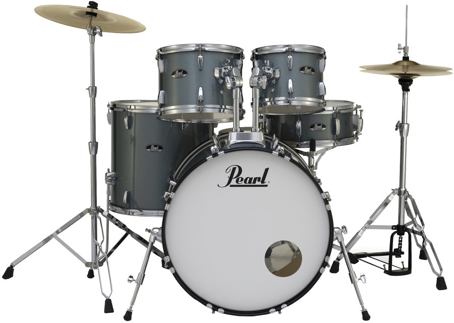 View larger image of Pearl Roadshow 5-Piece Drum Set - 22/14SD/16FT/12/10, Hardware, Cymbals, Throne, Charcoal Metallic