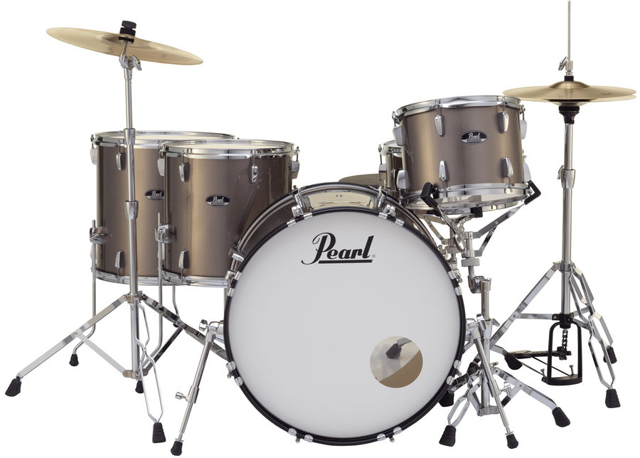 View larger image of Pearl Roadshow 5-Piece Drum Set - 22/14SD/16FT/14FT/12, Hardware, Cymbals, Throne, Bronze Metallic
