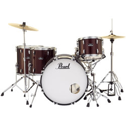 Pearl Roadshow 5-Piece Drum Set - 22/14SD/16FT/14FT/12, Hardware, Cymbals, Throne, Wine Red