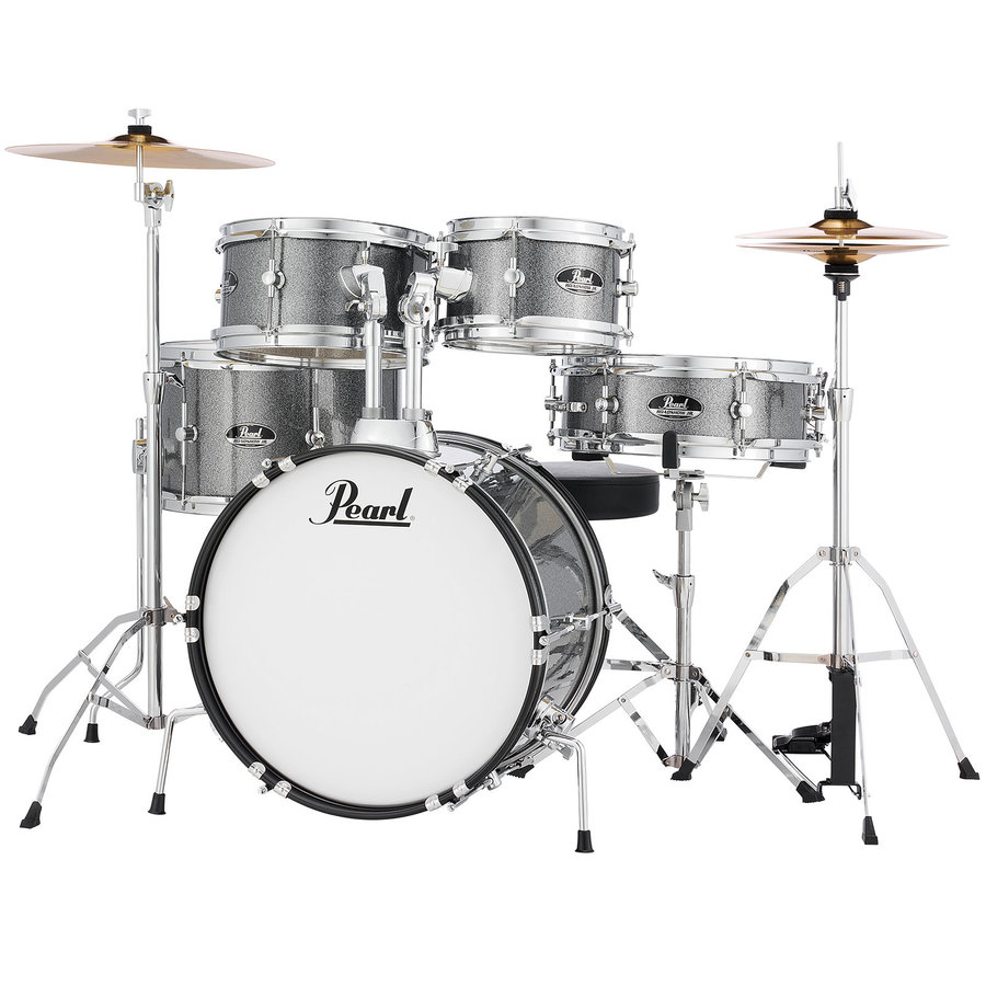 View larger image of Pearl Roadshow Jr. 5-Piece Drum Set - 16/12SD/13FT/12/10, Hardware, Cymbals, Throne, Grindstone Sparkle