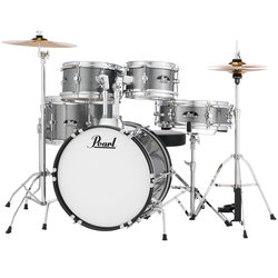 Pearl Roadshow Jr. 5-Piece Drum Kit - 16/12SD/13FT/12/10, Hardware, Cymbals, Throne, Grindstone Sparkle