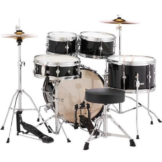 View larger image of Pearl Roadshow Jr. 5-Piece Drum Set - 16/12SD/13FT/12/10, Hardware, Cymbals, Throne, Jet Black