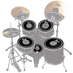Pearl RP50 Rubber Disk Set for Drum Set -