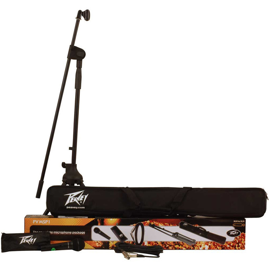 View larger image of Peavey PV-MSP1 Complete Microphone Package - Stand, Cable, Bag