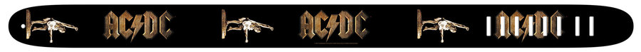 View larger image of Perri's ACDC Guitar Strap - Black, 2.5