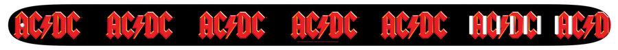 View larger image of Perri's ACDC Guitar Strap - Black and Red, 2.5