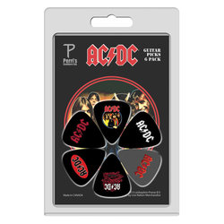 Perris ACDC Licensed Guitar Picks - 6 Pack, Black and Grey