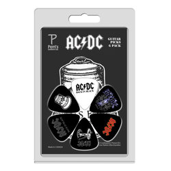 Perris ACDC Licensed Guitar Picks - 6 Pack, Black, White
