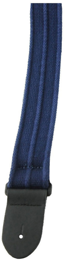 View larger image of Perri's Deluxe Cotton Guitar Strap - Navy with Ribbed Design, 2