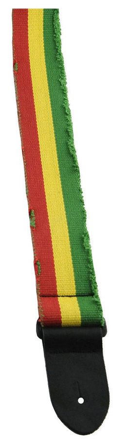View larger image of Perri's Deluxe Distressed Cotton Guitar Strap - Jamaican, 2