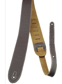 View larger image of Perris Italian Leather Guitar Strap with Suede Back - Brown, 2