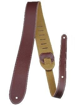 View larger image of Perris Italian Leather Guitar Strap with Suede Back - Wine Red, 2