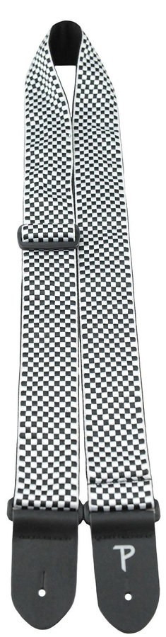 View larger image of Perri's Jacquard Guitar Strap - Black and White Checker, 2
