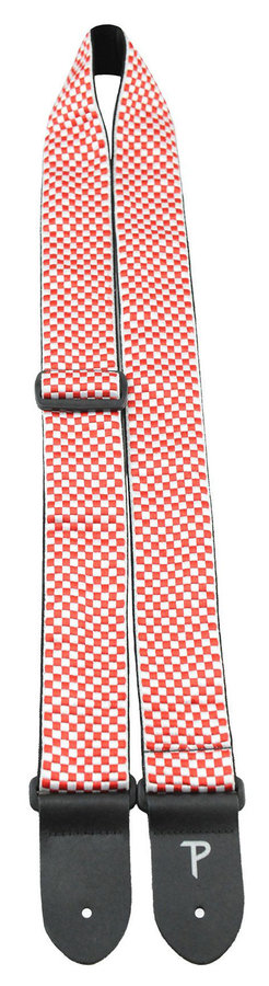 View larger image of Perri's Jacquard Guitar Strap - Red and White Checker, 2