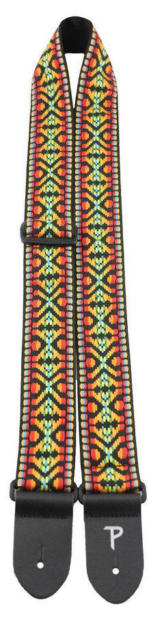 View larger image of Perri's Jacquard Guitar Strap - Red, Yellow, Blue Hootenanny, 2