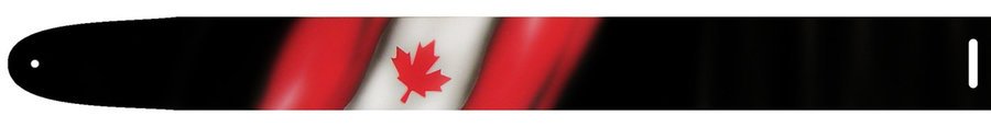 View larger image of Perri's Leather Guitar Strap - Canadian Flag, 2.5