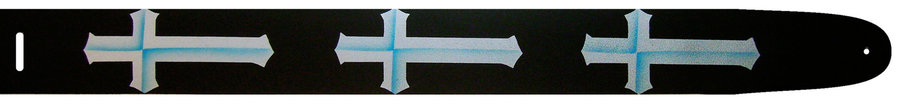 View larger image of Perri's Leather Guitar Strap - Crosses, 2.5
