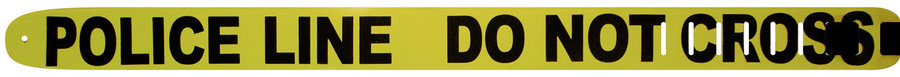 View larger image of Perri's Leather Guitar Strap - Police Line, Do Not Cross, 2.5