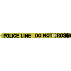 Perri's Leather Guitar Strap - Police Line, Do Not Cross, 2.5