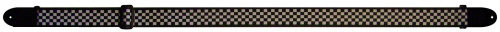 View larger image of Perri's Polyester Guitar Strap - Black/White Checkers, 2