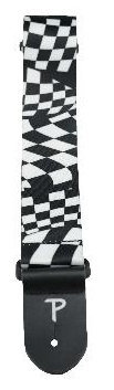 View larger image of Perri's Polyester Guitar Strap - Checkered, 2